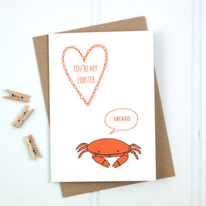 'You're My Lobster' Card - valentine's cards