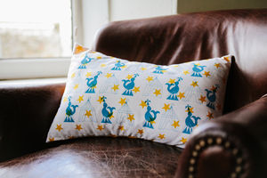 Circus Seal Cushion, Yellow Stars - home sale