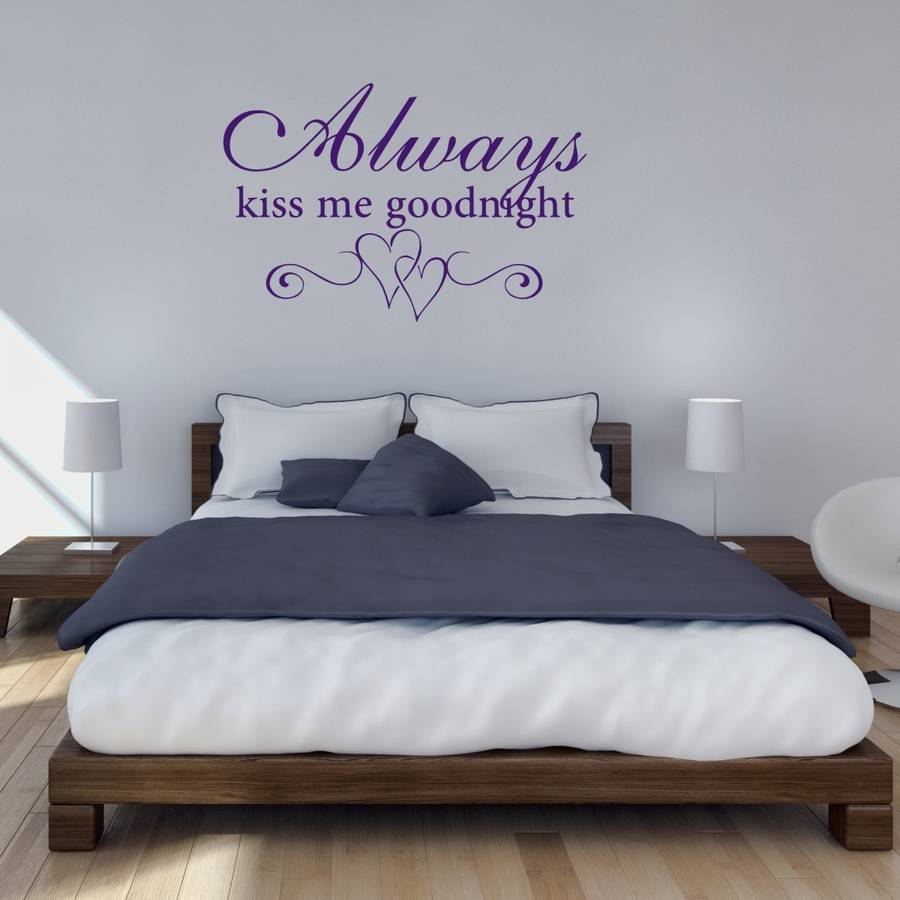 Kiss Me Goodnight Bedroom Wall Sticker Part 97