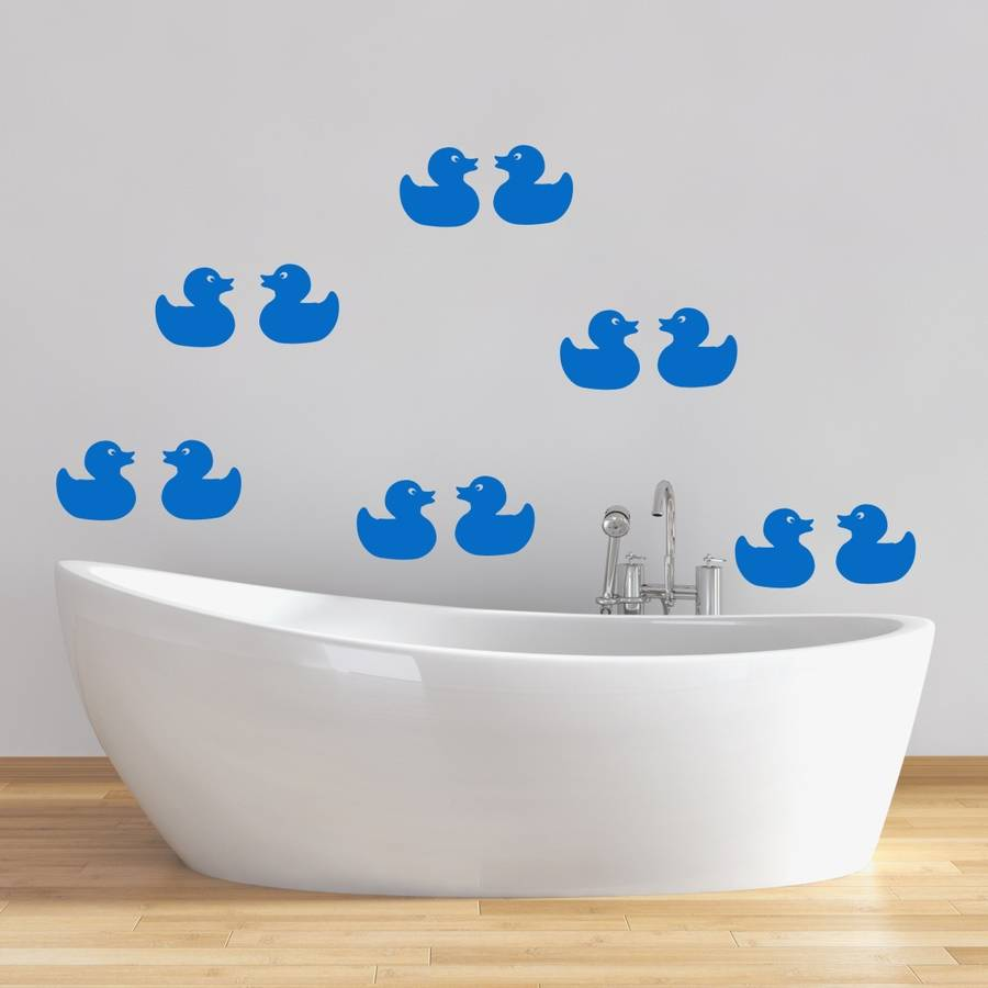 Rubber ducks bathroom wall stickers by mirrorin rubber ducks bathroom wall stickers amipublicfo Choice Image