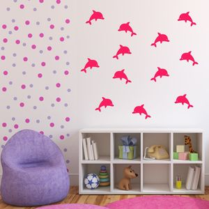 Dolphins Bathroom Wall Stickers - wall stickers