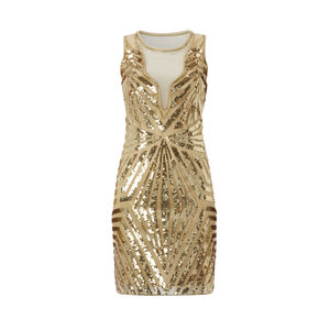 Sandra Gatsby Inspired Art Deco Embellished Dress - women's fashion