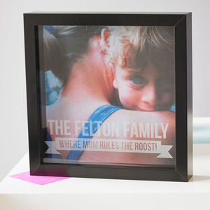 Personalised Mother's Day Etched Framed Print