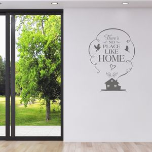 No Place Like Home Vinyl Wall Sticker - decorative accessories