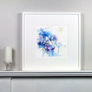 Limited Edition Daisy Floral Fine Art Watercolour Print - modern & abstract