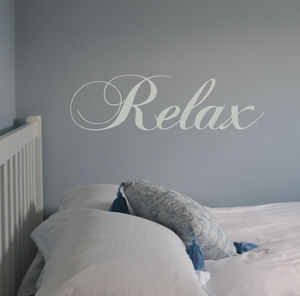 Swirly 'Relax' Wall Sticker - lazy day