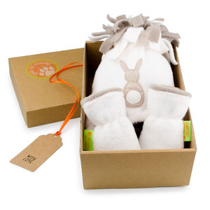 Easter Bunny Hat And Mittens Gift Set