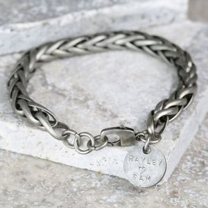 Personalised Men's Chunky Chain Bracelet - bracelets