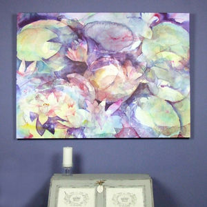 Limited Edition Waterlily Fine Art Canvas Print - nature & landscape