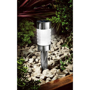 Black Nickel Solar Marker Garden Light - lights & lanterns