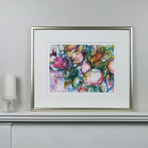 Peonies Limited Edition Fine Art Watercolour Print - contemporary art