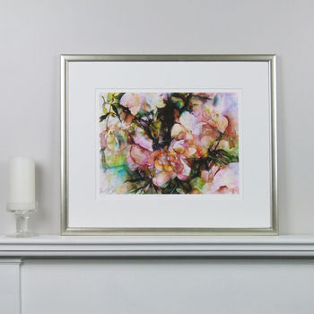 Limited Edition Floral Pink Fine Art Canvas Print