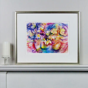 Hellebores And Pears Fine Art Watercolour Print - new in prints & art