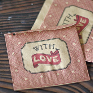 With Love Red Wedding Favour Bags X 40
