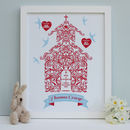 Personalised Christening With Godparents Framed Print