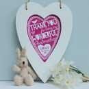 Personalised Godparent Framed Heart Print