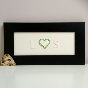 Personalised Heart And Initials Picture - new in home