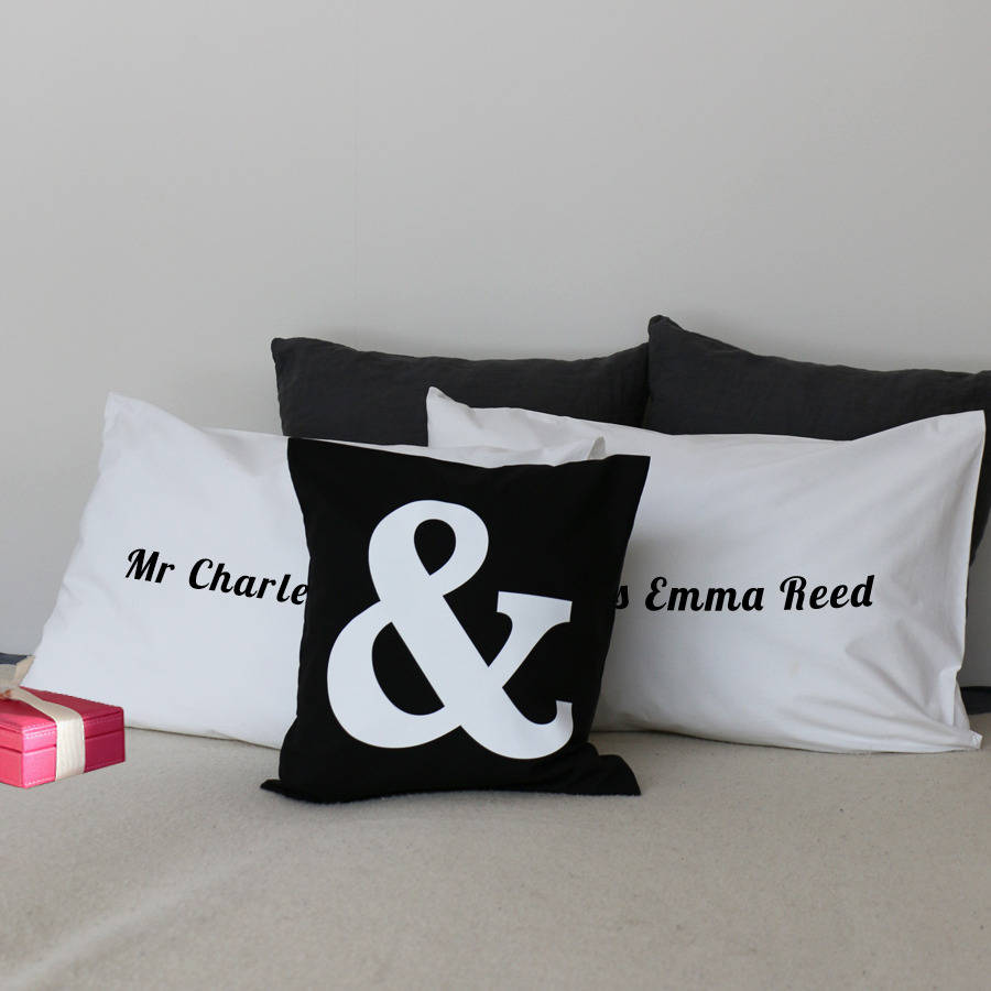 Personalised Set Of Pillowcases By Minnas Room Notonthehighstreet