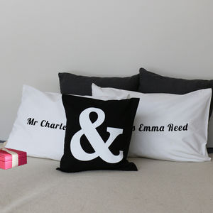 Personalised Set Of Pillow Cases