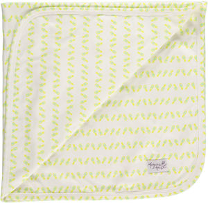 Pineapple Print Baby Blanket - sleeping