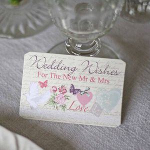 Floral Wedding Wishes Cards Alternative Guest Book