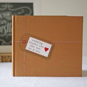Wedding Guest Book Brown Paper Tied Up With String