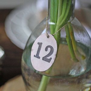 Bronze Disc Wedding Table Numbers Set Of 12