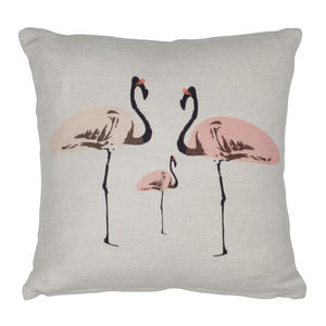 Flamingo Party Mini Cushion