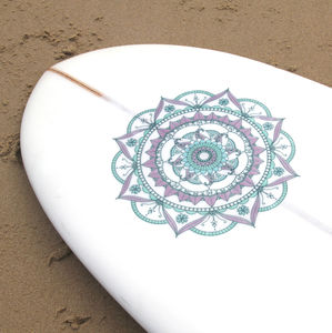 Mandala Surfboard Vinyl Sticker - sports & games for grown ups