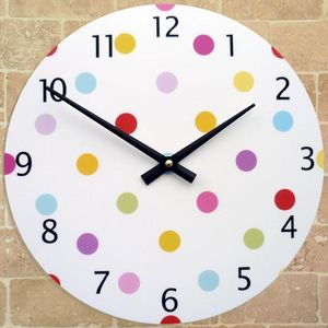 Polka Dot Clock - clocks