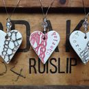 Vintage Lace 'Love', 'Cherish' Or 'Adore' Ceramic Heart