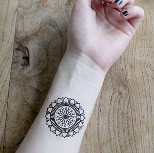 Mandala Temporary Tattoos - temporary tattoos