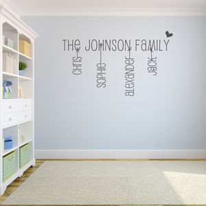 Family Name Wall Sticker - decorative accessories