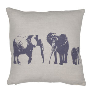 Elephant Family Mini Cushion