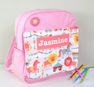 Girls Personalised Circus Mini Rucksack