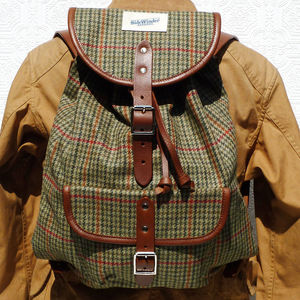 Windowpane Tweed Backpack