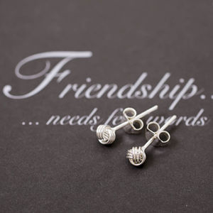 Friendship Knot Sterling Silver Small Earrings