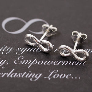 Infinity Sterling Silver Stud Earrings - earrings