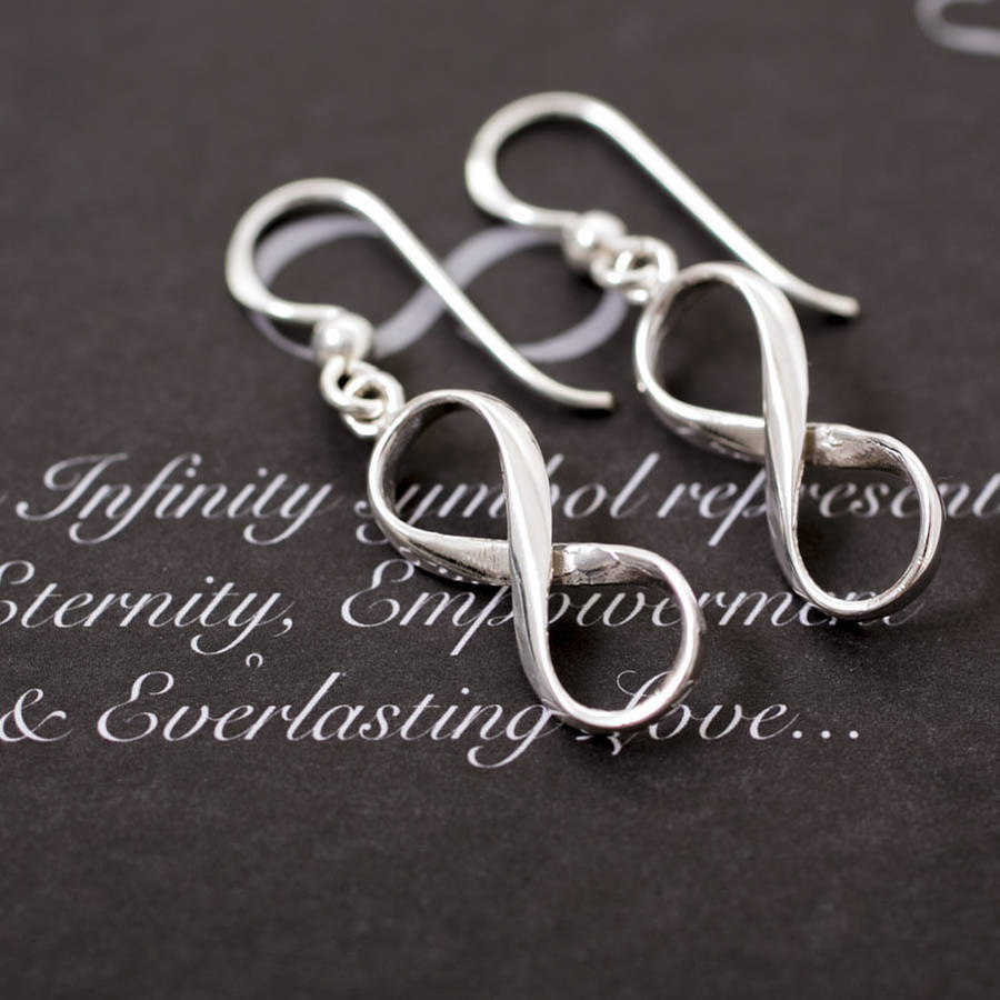 Sterling Silver Infinity Hook Drop Earrings