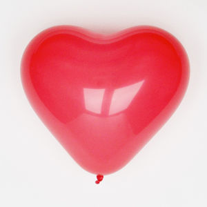 Red Heart Shaped Balloons - decorations