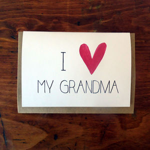 'I Heart My Grandma' Mother's Day Card - seasonal cards