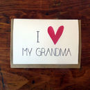 'I Heart My Grandma' Mother's Day Card