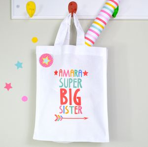 Girls Personalised Super Big Sister Mini Bag