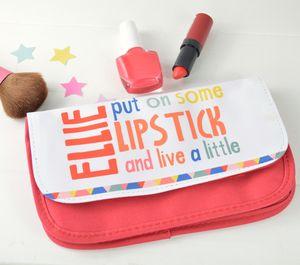 Girls Personalised Wording Makeup Bag