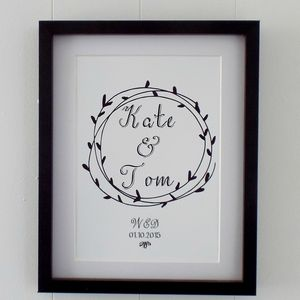'Wedding Couple' Wedding Print - best wedding gifts