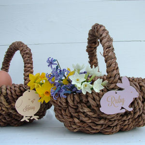 Personalised Easter Egg Hunt Basket - for children