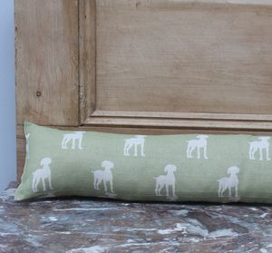 Olive Tail Draught Excluder - office & study