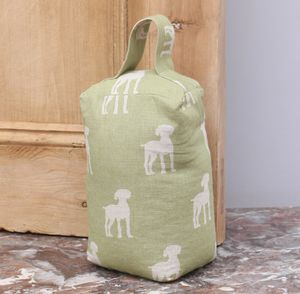 Olive Tail Dog Door Stop