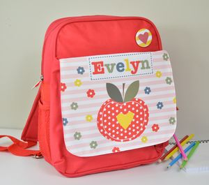 Girls Personalised Apple Mini Rucksack