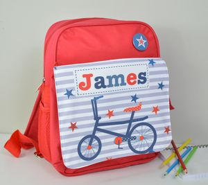 Boy's Personalised Bike Mini Rucksack